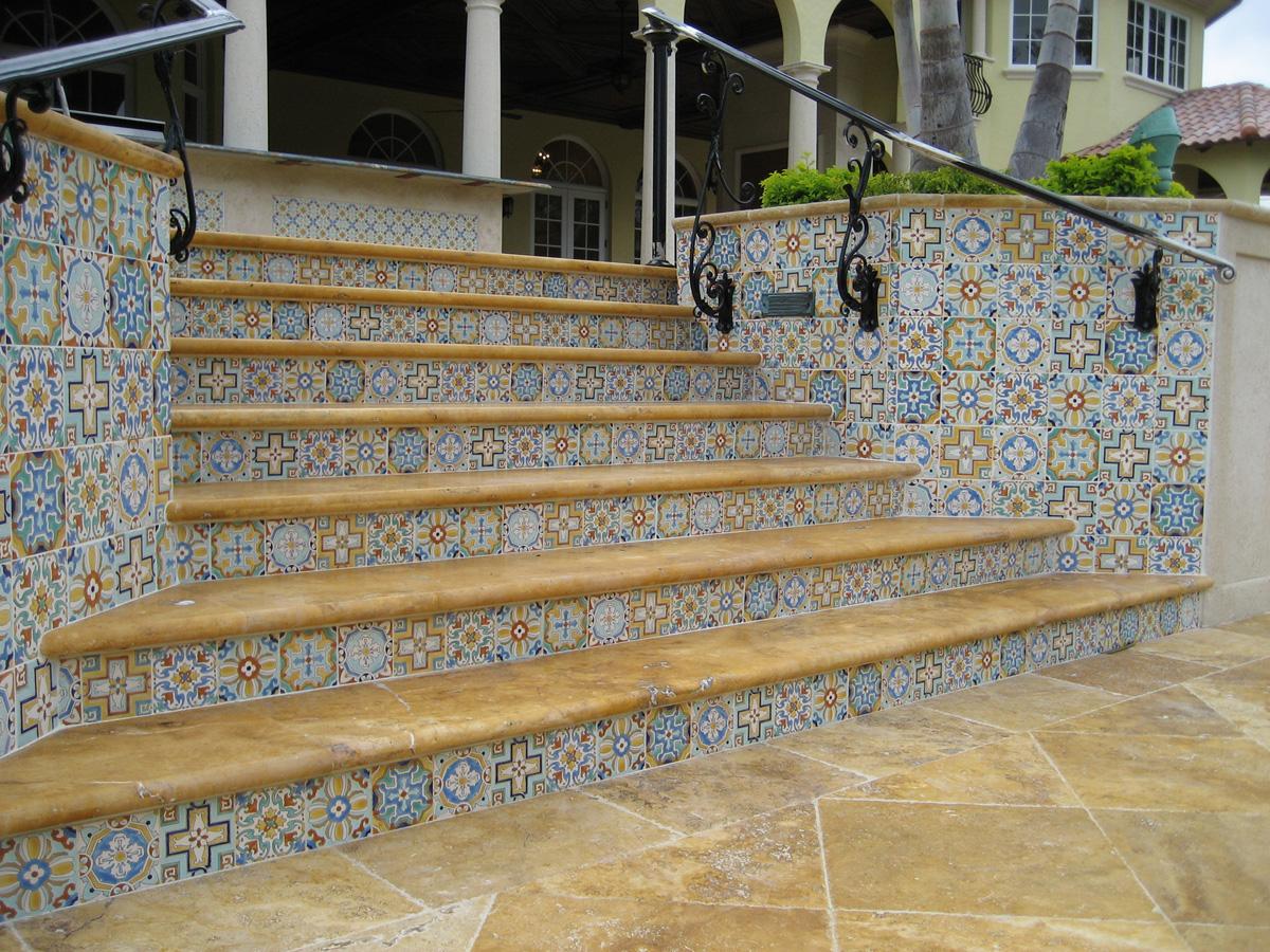 Custom Stair riser tile