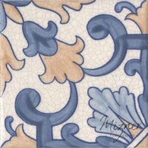Hand Painted Tile 1-Single Tile - Portuguese Style HP-563 from Mizner Tile Studio