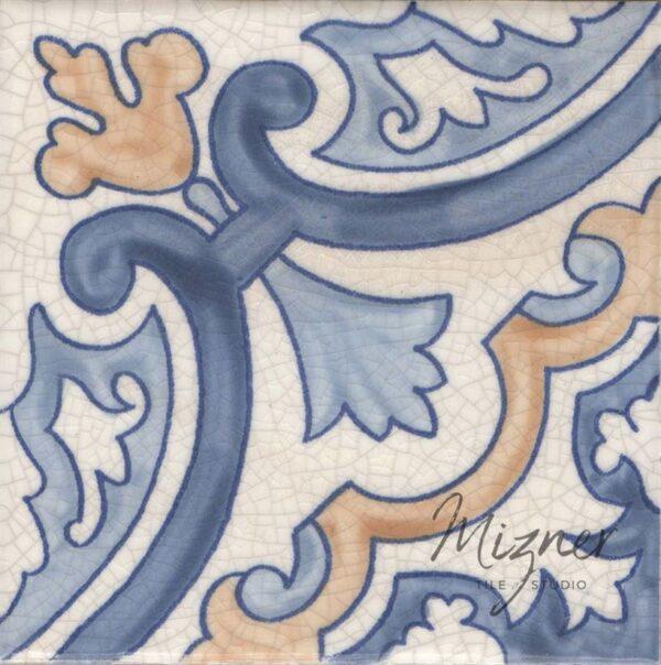 Hand Painted Tile 1-Single Tile - Portuguese Style HP-564 from Mizner Tile Studio
