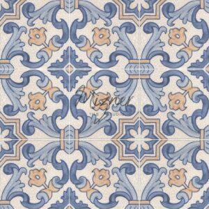 Hand Painted Tile 4-Tile Pattern - Portuguese Style HP-566 from Mizner Tile Studio
