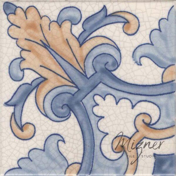 Hand Painted Tile 1-Single Tile - Portuguese Style HP-567 from Mizner Tile Studio