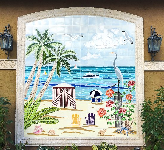 Waterline Tile Mural Wall Accent Seaside