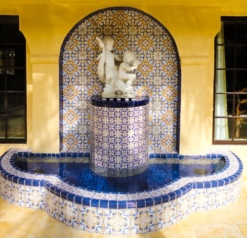 Waterline Tile Wall and Fountain