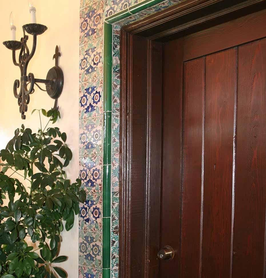 The Everglades Club - Restored door surround tile.